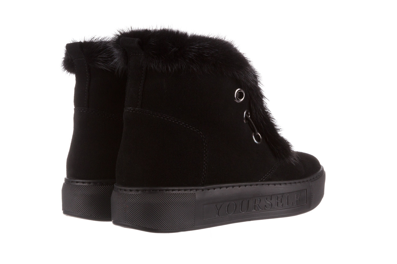 Śniegowce bayla 161 017 2032 black suede 161163, czarny, skóra naturalna  - trendy - kobieta 18
