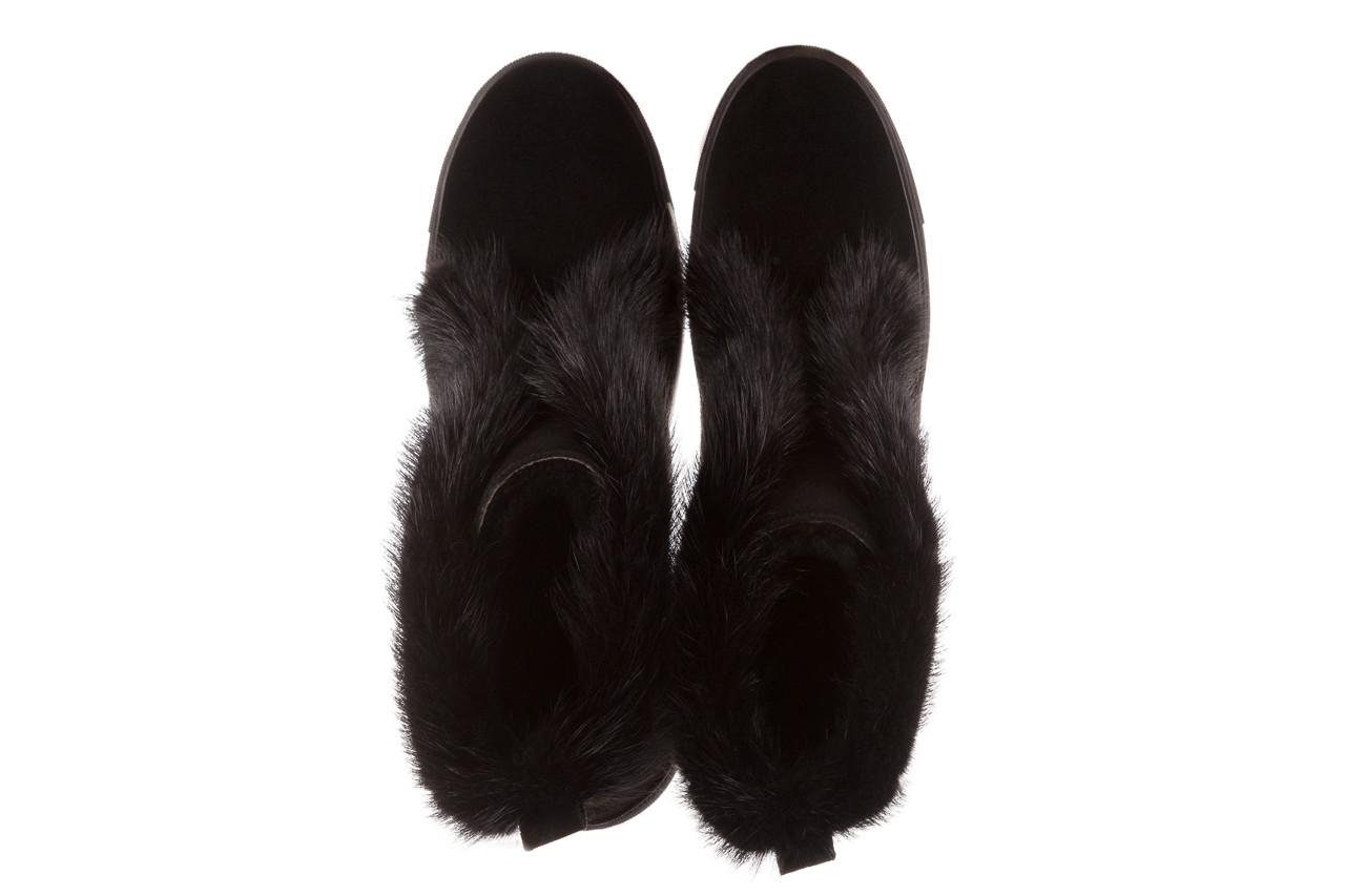 Śniegowce bayla 161 017 2032 black suede 161163, czarny, skóra naturalna  - trendy - kobieta 19