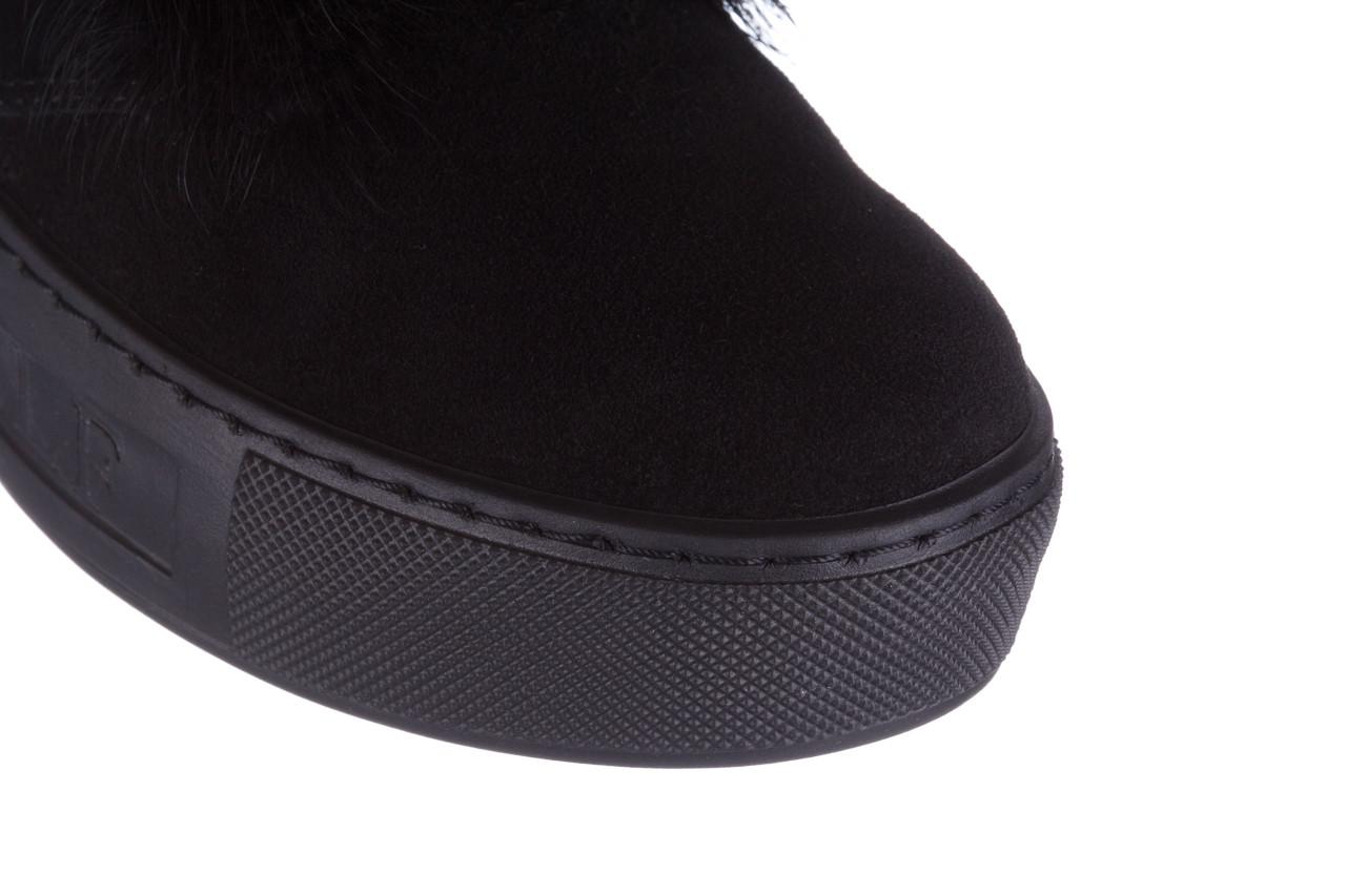 Śniegowce bayla 161 017 2032 black suede 161163, czarny, skóra naturalna  - trendy - kobieta 20