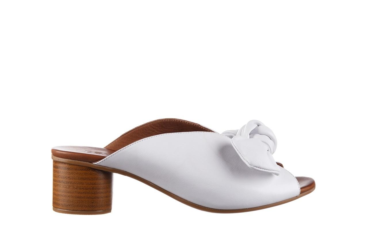 Klapki bayla-161 061 1029 white, biały, skóra naturalna  - klapki - dla niej  - sale 8