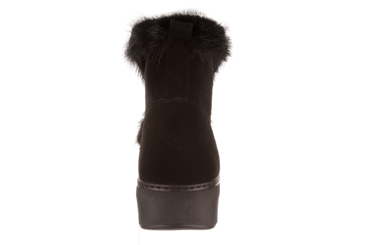 Śniegowce bayla 161 017 2032 black suede 161163, czarny, skóra naturalna  - trendy - kobieta 25