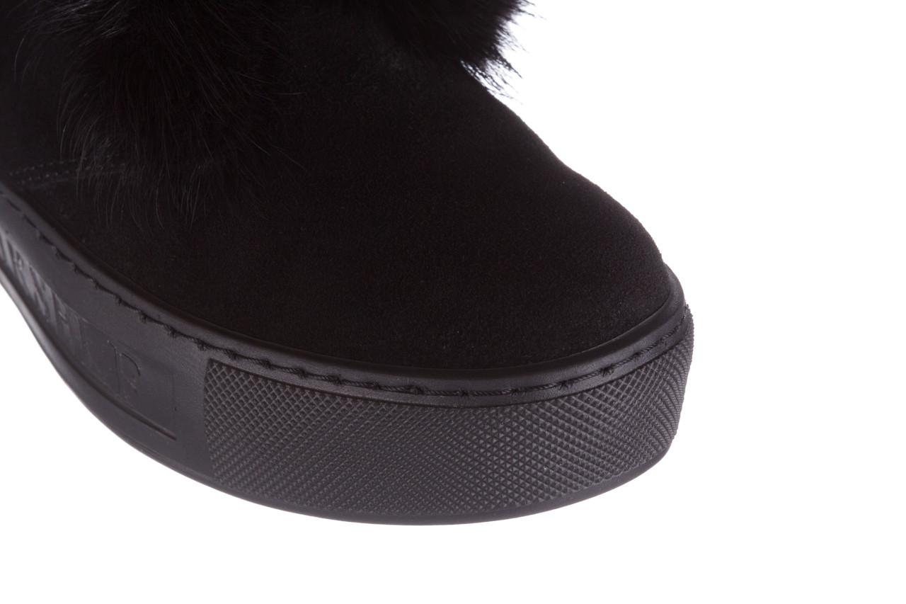 Śniegowce bayla 161 017 2032 black suede 161163, czarny, skóra naturalna  - trendy - kobieta 27