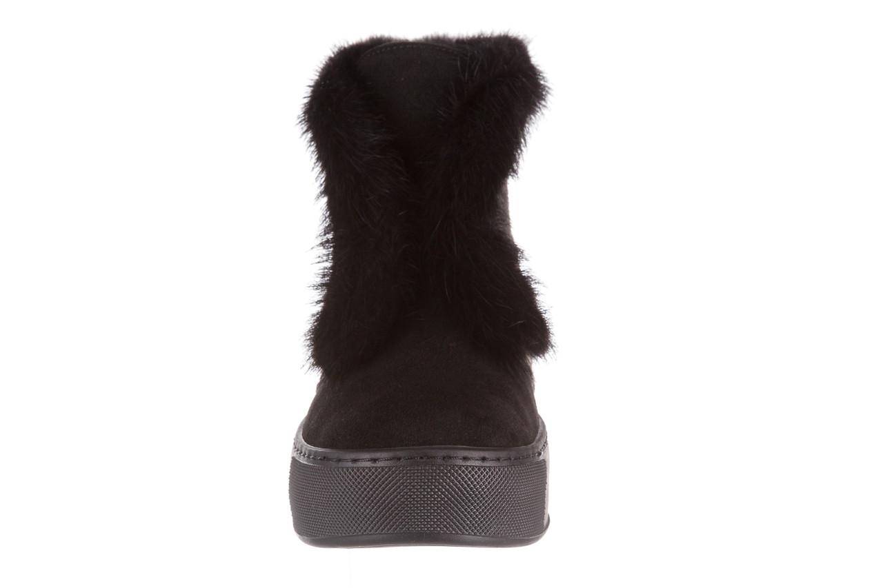 Śniegowce bayla 161 017 2032 black suede 161163, czarny, skóra naturalna  - trendy - kobieta 26