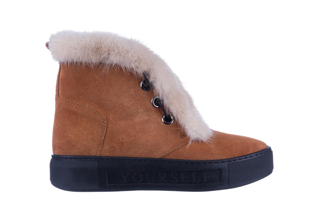 Śniegowce bayla 161 017 2032 105 tan suede 161162, brąz, skóra naturalna  - śniegowce - śniegowce i kalosze - buty damskie - kobieta 11