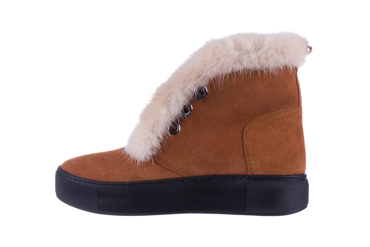 Śniegowce bayla 161 017 2032 105 tan suede 161162, brąz, skóra naturalna  - śniegowce - śniegowce i kalosze - buty damskie - kobieta 14