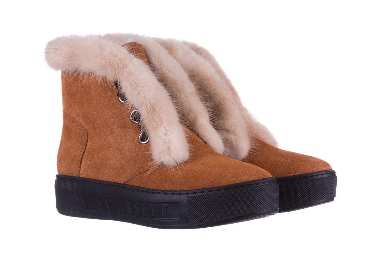 Śniegowce bayla 161 017 2032 105 tan suede 161162, brąz, skóra naturalna  - śniegowce - śniegowce i kalosze - buty damskie - kobieta 12