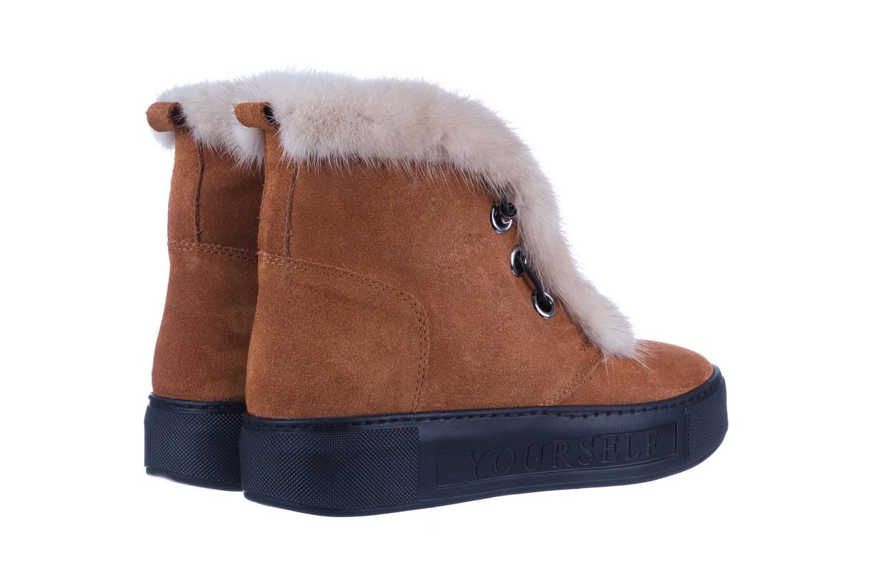 Śniegowce bayla 161 017 2032 105 tan suede 161162, brąz, skóra naturalna  - śniegowce - śniegowce i kalosze - buty damskie - kobieta 15