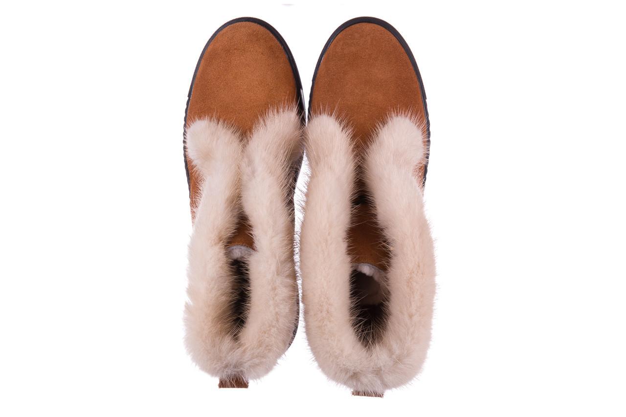 Śniegowce bayla 161 017 2032 105 tan suede 161162, brąz, skóra naturalna  - śniegowce - śniegowce i kalosze - buty damskie - kobieta 16