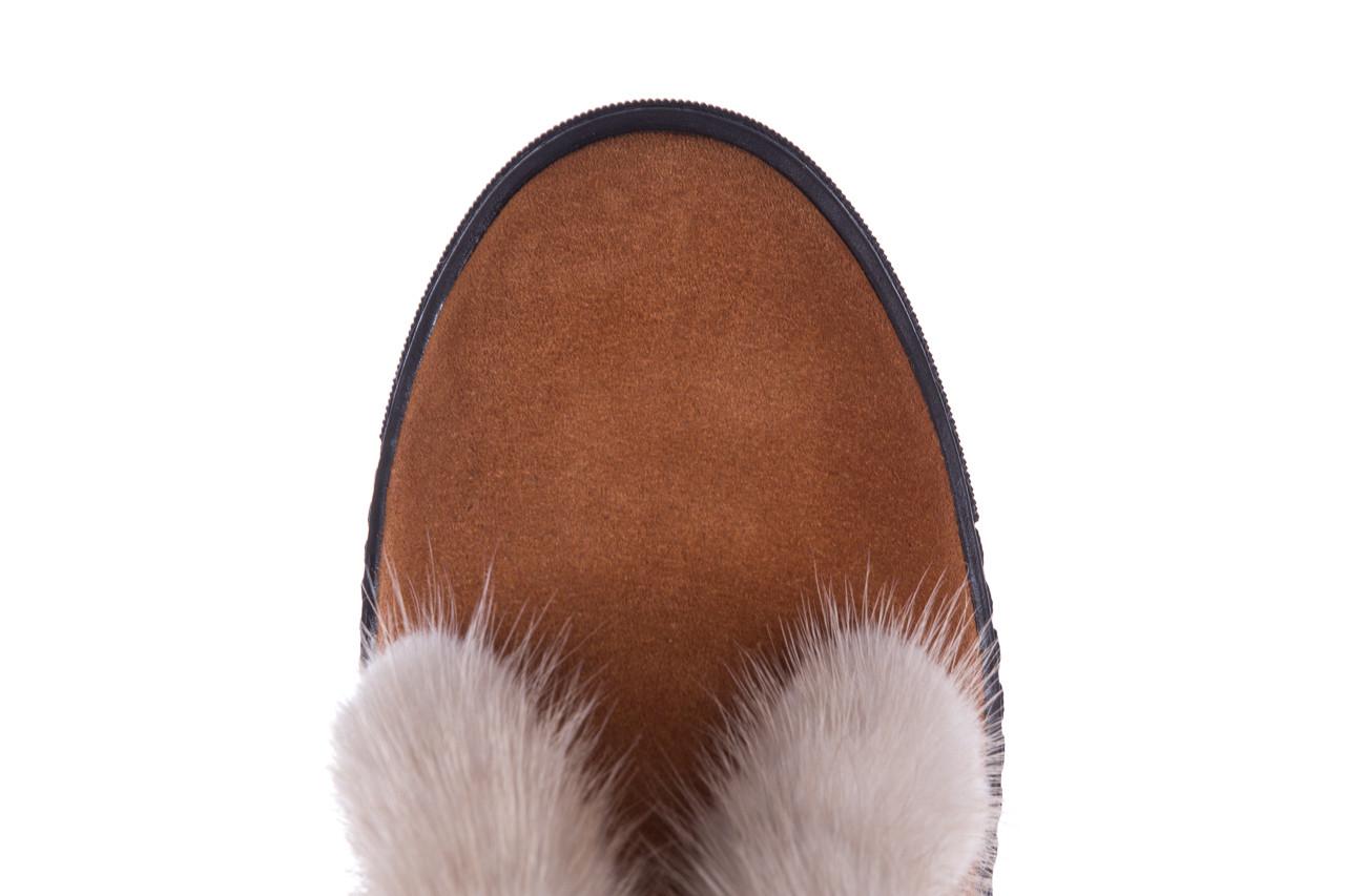 Śniegowce bayla 161 017 2032 105 tan suede 161162, brąz, skóra naturalna  - śniegowce - śniegowce i kalosze - buty damskie - kobieta 18