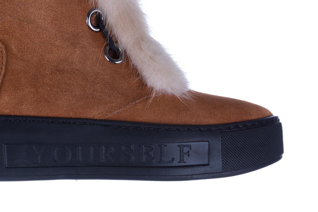 Śniegowce bayla 161 017 2032 105 tan suede 161162, brąz, skóra naturalna  - śniegowce - śniegowce i kalosze - buty damskie - kobieta 20