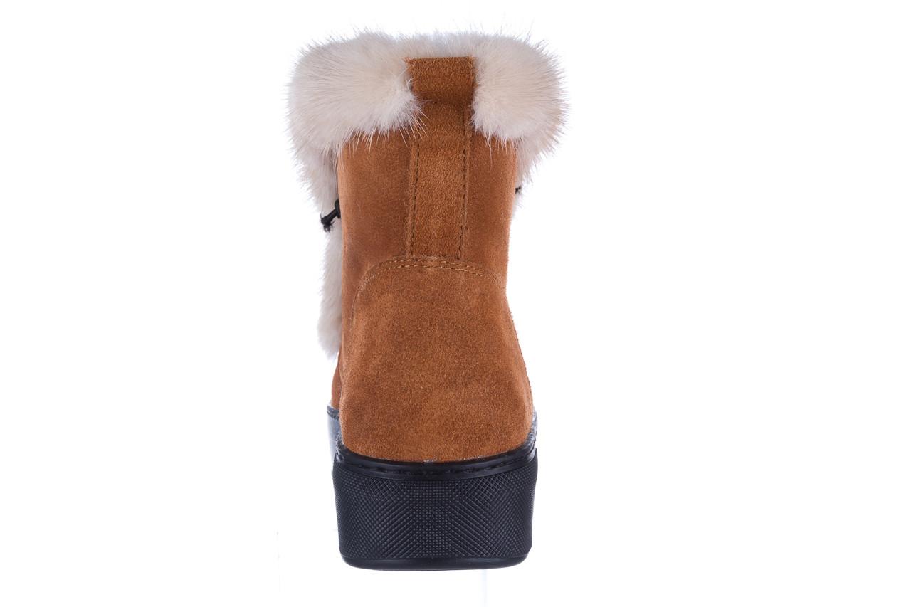 Śniegowce bayla 161 017 2032 105 tan suede 161162, brąz, skóra naturalna  - śniegowce - śniegowce i kalosze - buty damskie - kobieta 21