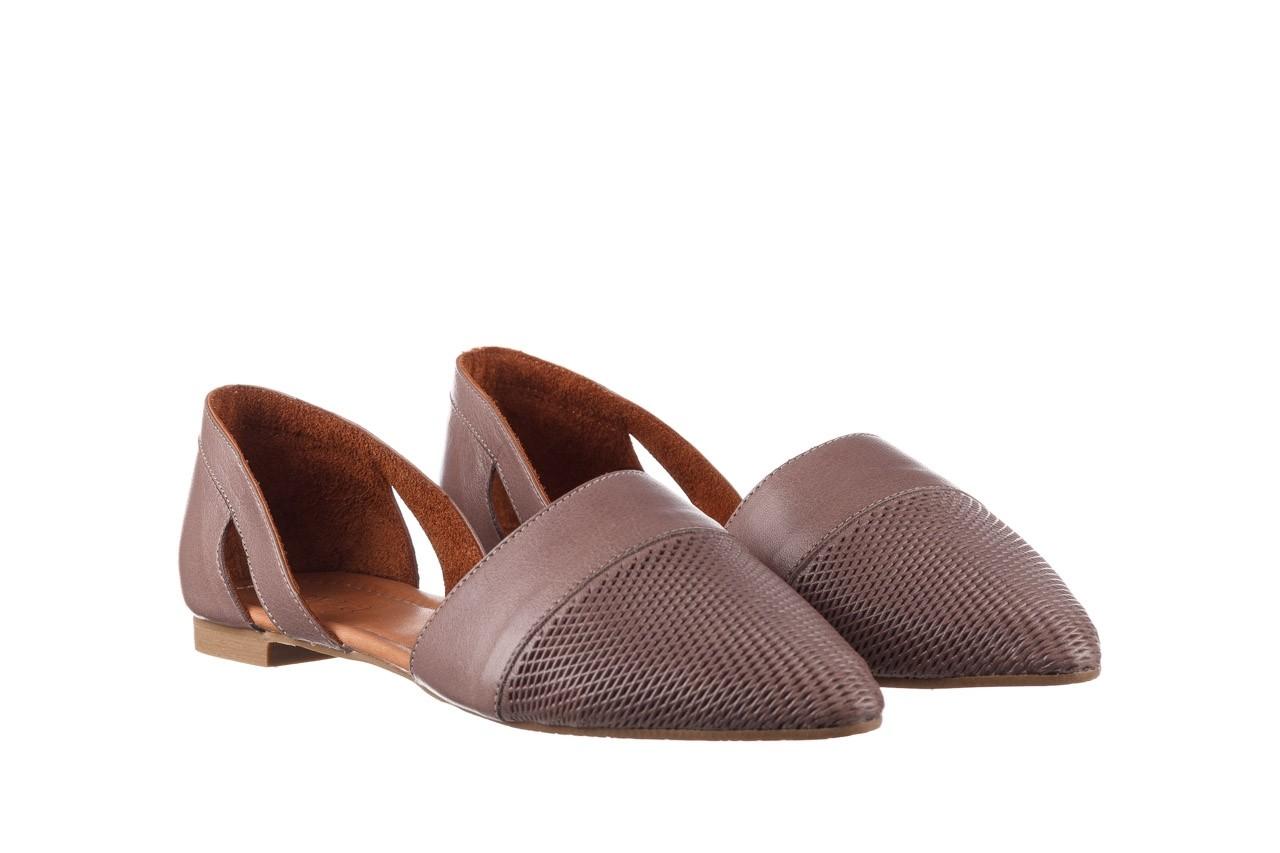 Baleriny bayla-161 074 205 hat, beż, skóra naturalna  - baleriny - buty damskie - kobieta 9