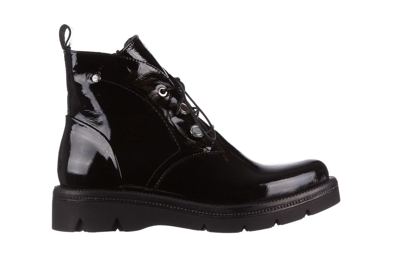 Trzewiki bayla 161 050 4006 400 black patent 161175, czarny, skóra naturalna lakierowana  - trzewiki - buty damskie - kobieta 10