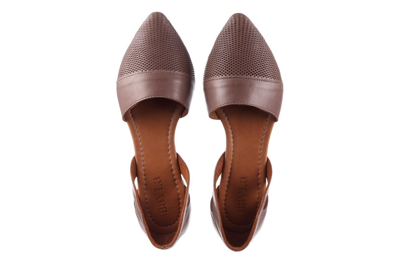 Baleriny bayla-161 074 205 hat, beż, skóra naturalna  - baleriny - buty damskie - kobieta 12