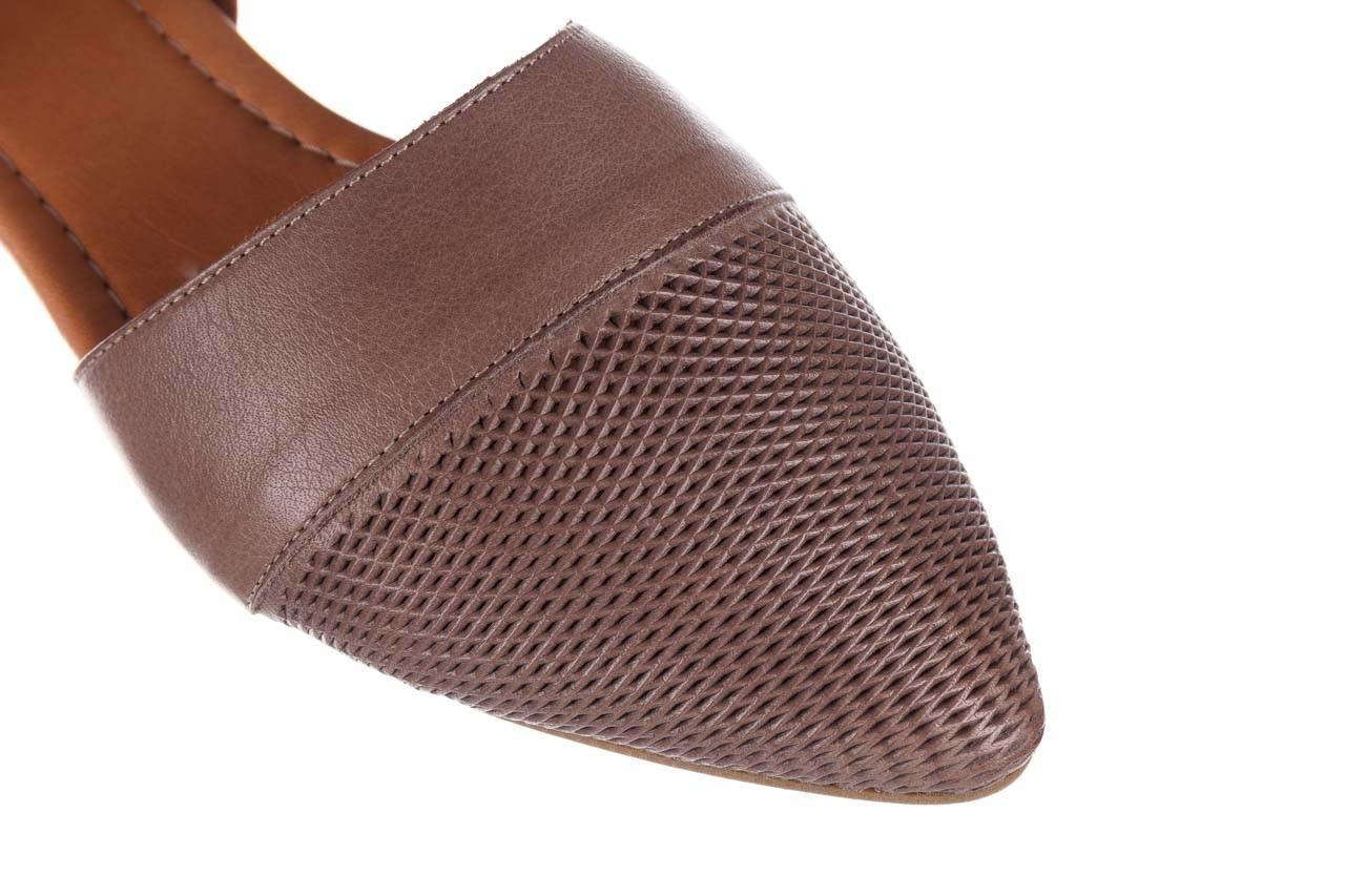 Baleriny bayla-161 074 205 hat, beż, skóra naturalna  - baleriny - buty damskie - kobieta 13