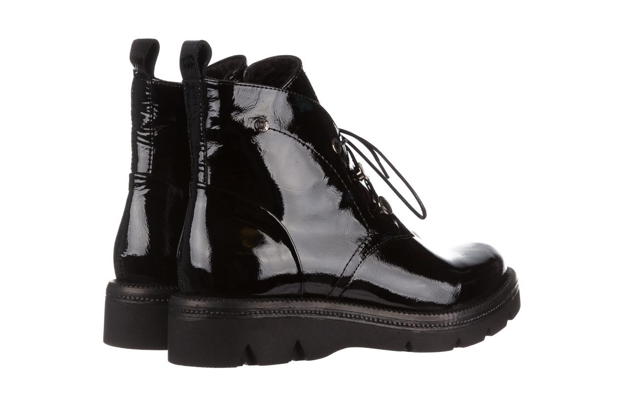 Trzewiki bayla 161 050 4006 400 black patent 161175, czarny, skóra naturalna lakierowana  - trzewiki - buty damskie - kobieta 14