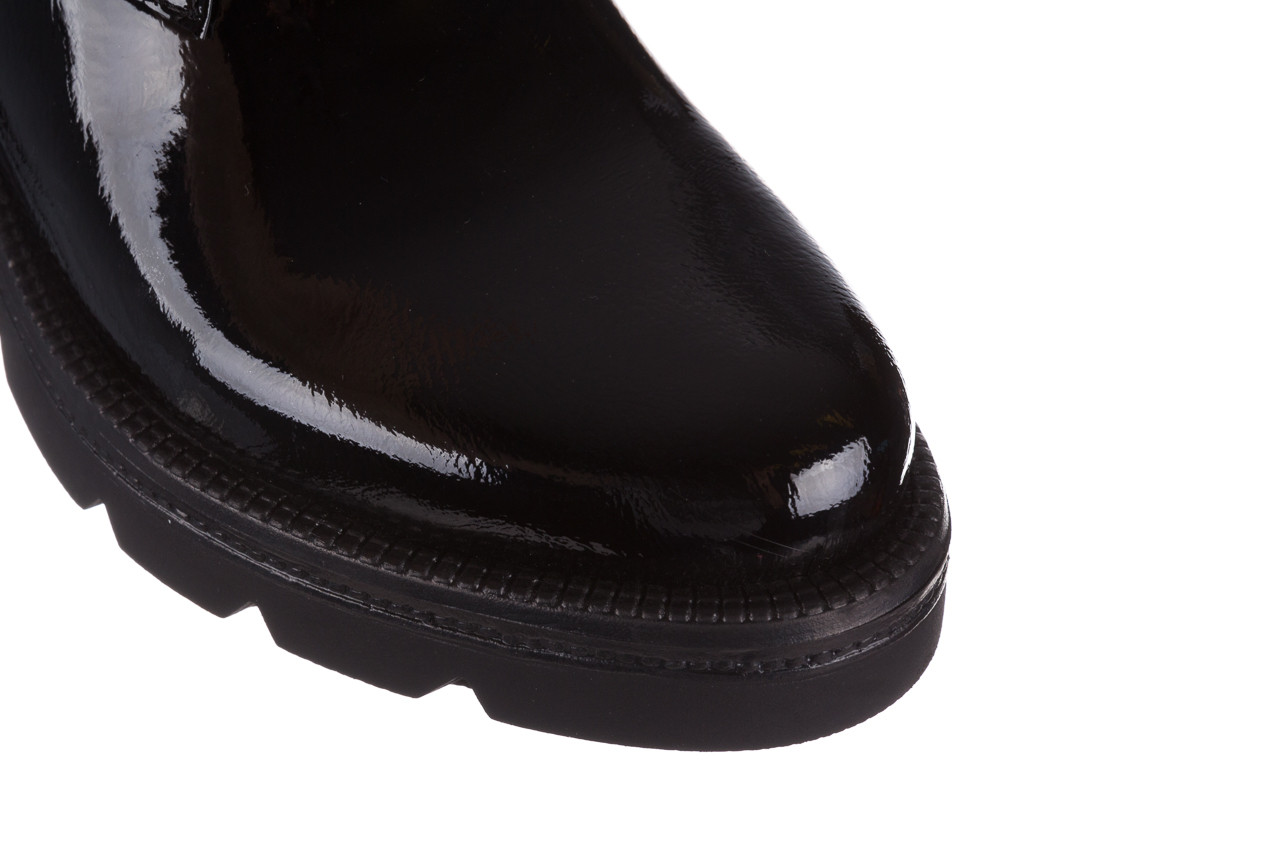 Trzewiki bayla 161 050 4006 400 black patent 161175, czarny, skóra naturalna lakierowana  - trzewiki - buty damskie - kobieta 16