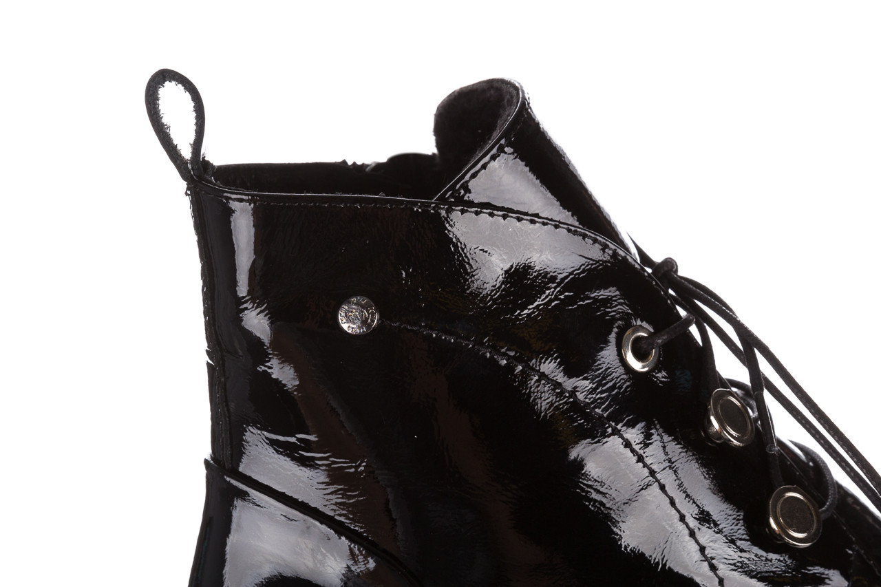 Trzewiki bayla 161 050 4006 400 black patent 161175, czarny, skóra naturalna lakierowana  - trzewiki - buty damskie - kobieta 17