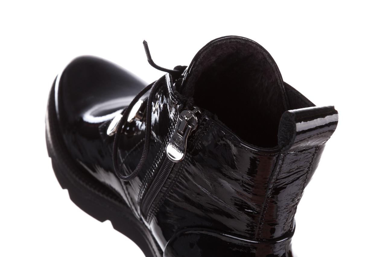 Trzewiki bayla 161 050 4006 400 black patent 161175, czarny, skóra naturalna lakierowana  - trzewiki - buty damskie - kobieta 18