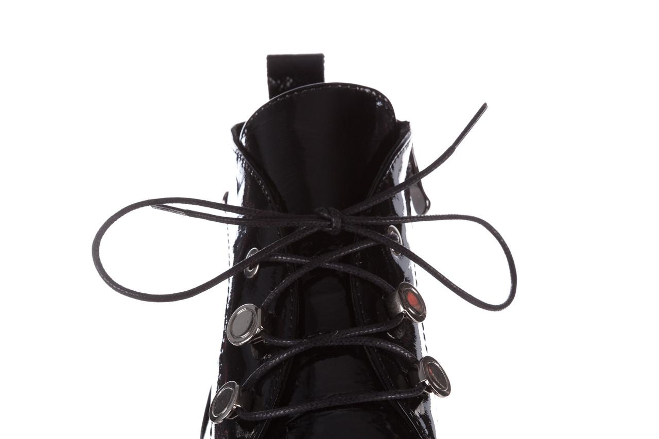 Trzewiki bayla 161 050 4006 400 black patent 161175, czarny, skóra naturalna lakierowana  - trzewiki - buty damskie - kobieta 19