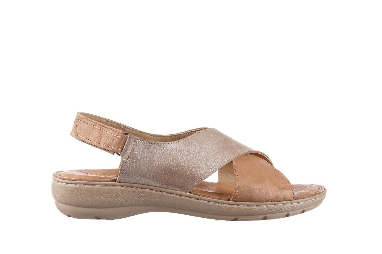 Sandały bayla-161 016 740 beige beige print, beż, skóra naturalna - płaskie - sandały - buty damskie - kobieta 8