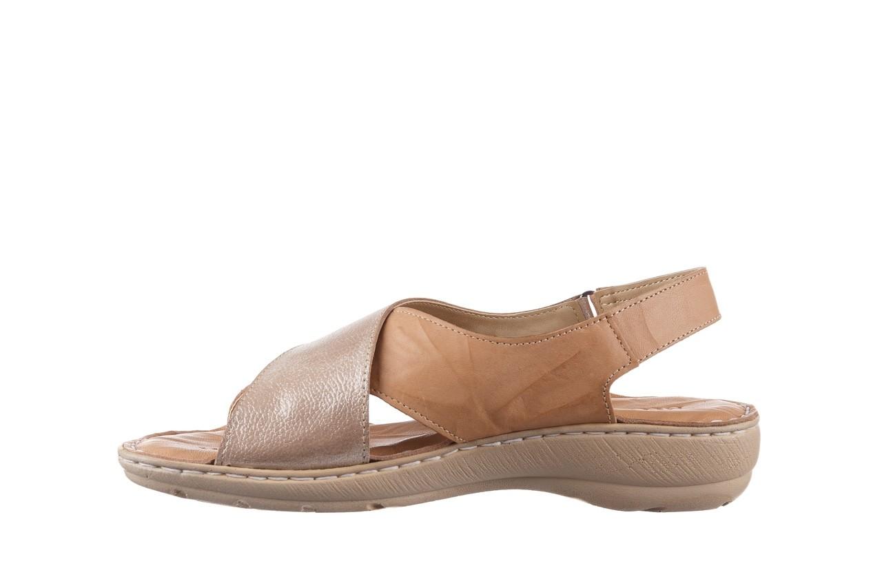 Sandały bayla-161 016 740 beige beige print, beż, skóra naturalna - płaskie - sandały - buty damskie - kobieta 10