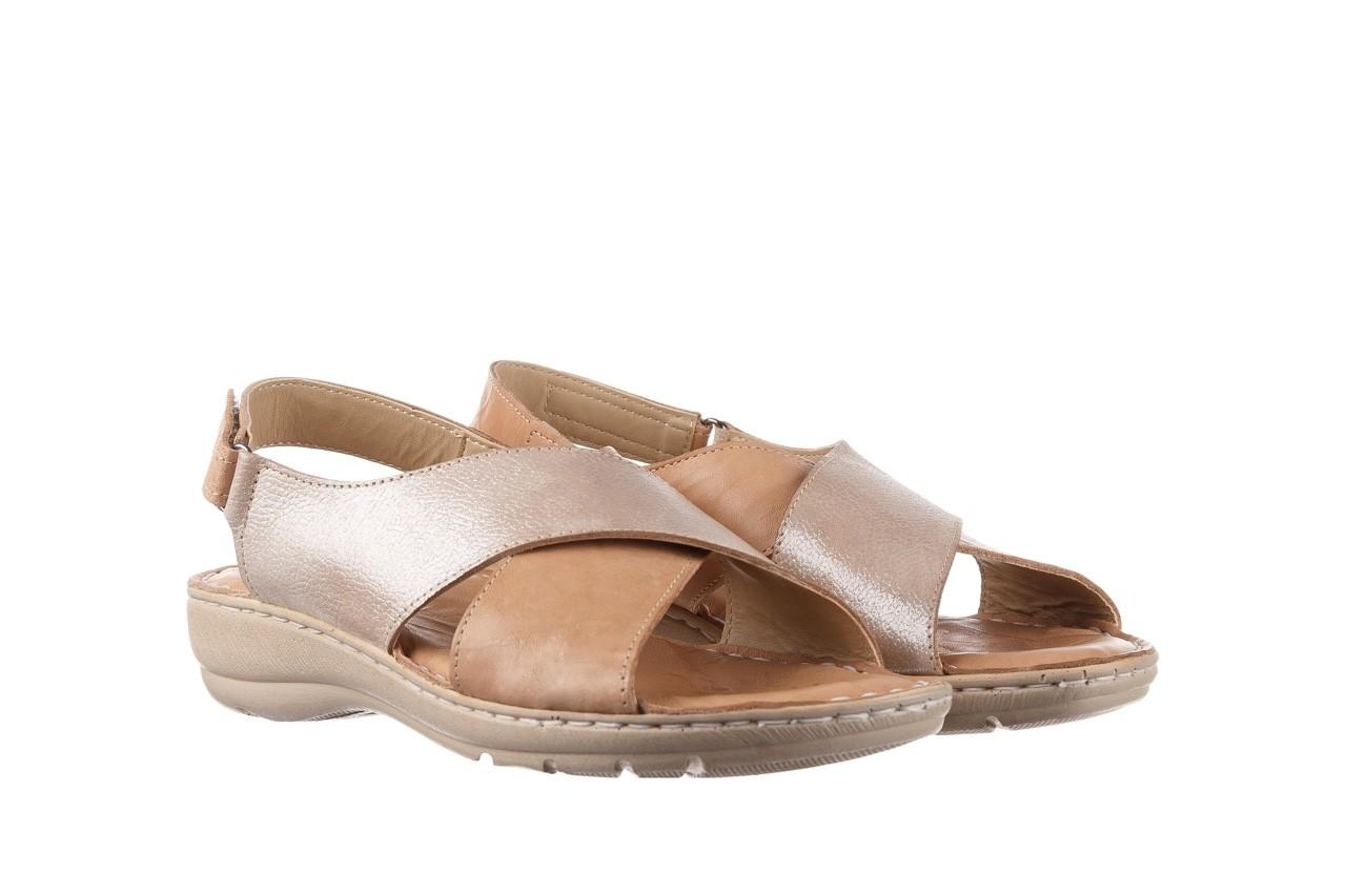 Sandały bayla-161 016 740 beige beige print, beż, skóra naturalna - płaskie - sandały - buty damskie - kobieta 9