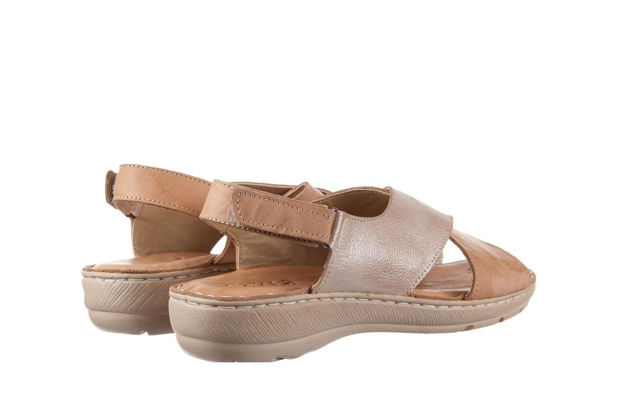 Sandały bayla-161 016 740 beige beige print, beż, skóra naturalna - płaskie - sandały - buty damskie - kobieta 11