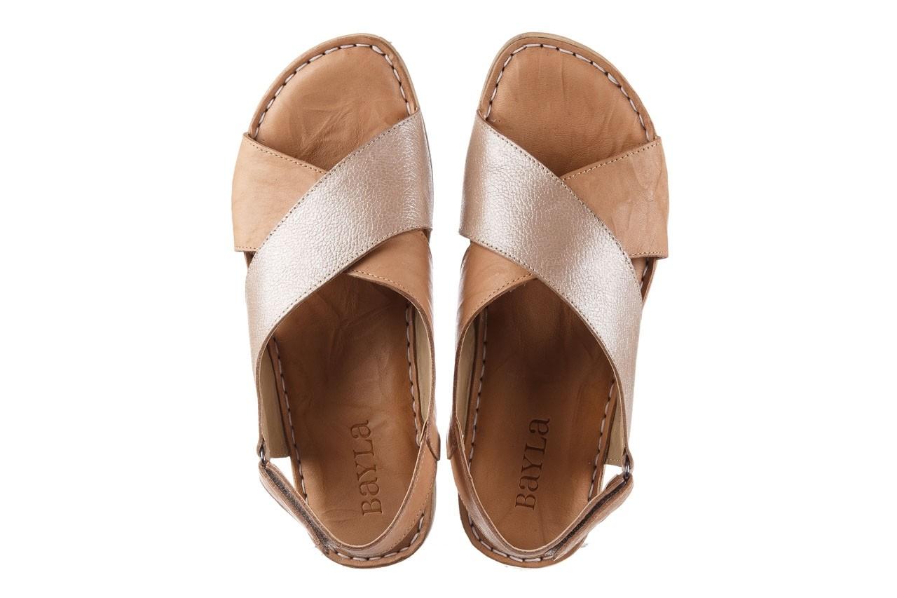 Sandały bayla-161 016 740 beige beige print, beż, skóra naturalna - płaskie - sandały - buty damskie - kobieta 12