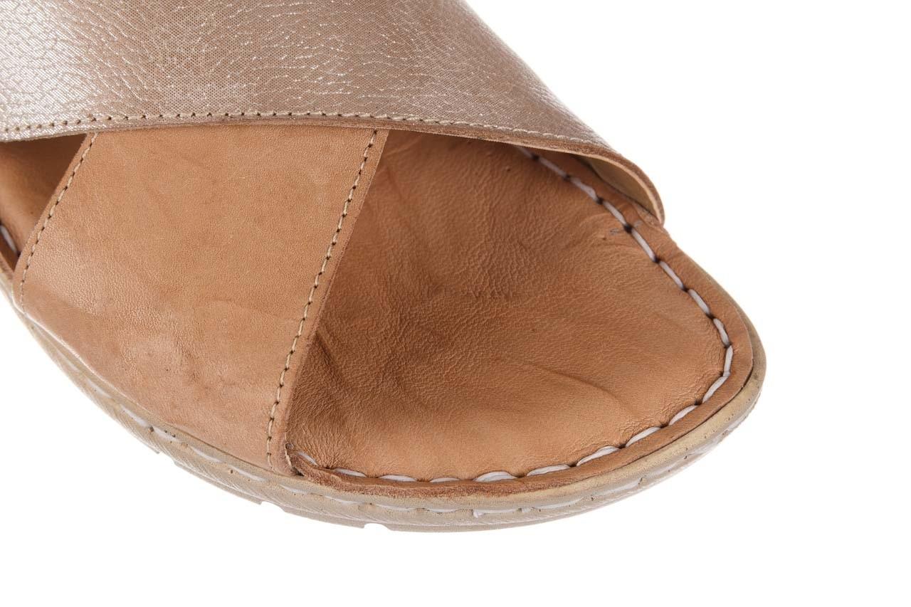 Sandały bayla-161 016 740 beige beige print, beż, skóra naturalna - płaskie - sandały - buty damskie - kobieta 14