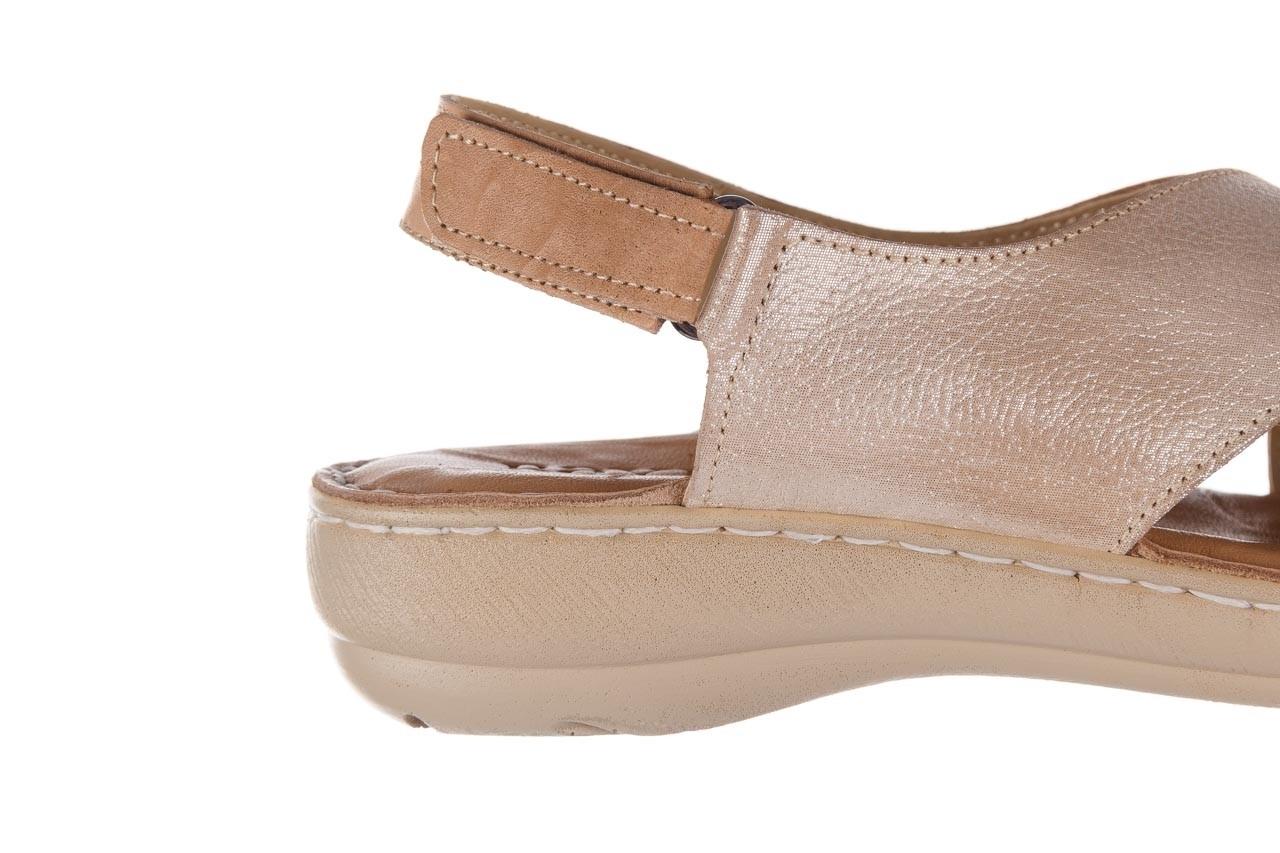 Sandały bayla-161 016 740 beige beige print, beż, skóra naturalna - płaskie - sandały - buty damskie - kobieta 15
