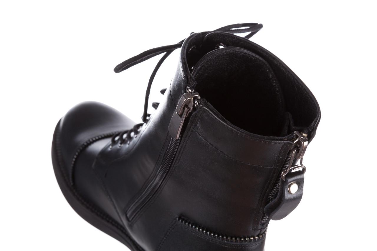 Trzewiki bayla 161 020 316 d1 black 161164, czarny, skóra naturalna  - trendy - kobieta 23
