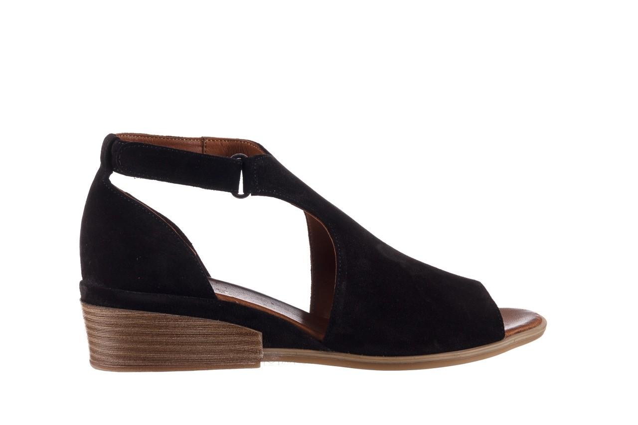 Sandały bayla-161 061 1612 black suede, czarny, skóra naturalna  - skórzane - sandały - buty damskie - kobieta 8