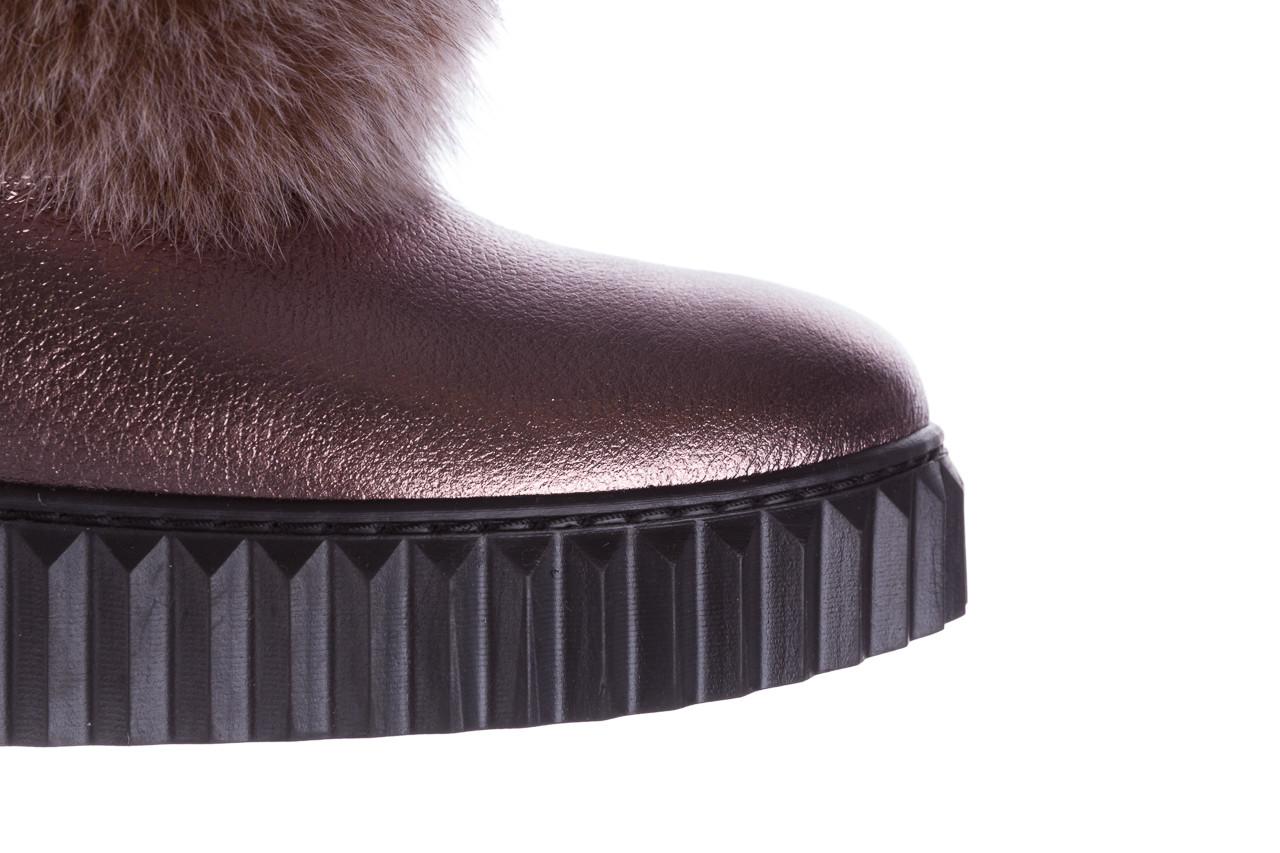 Śniegowce bayla 161 017 2002 1098 bronze 161158, miedziany, skóra naturalna  - sale 16