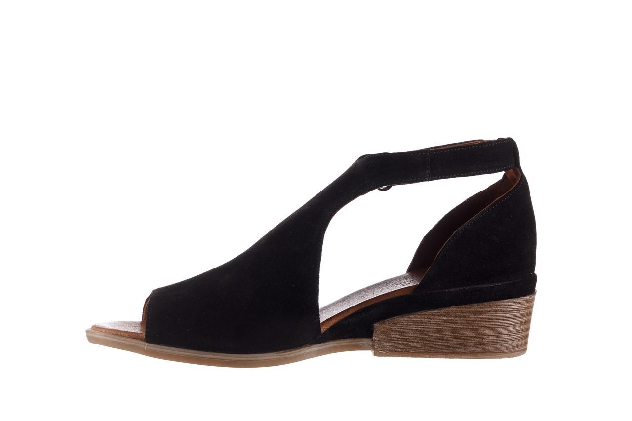 Sandały bayla-161 061 1612 black suede, czarny, skóra naturalna  - skórzane - sandały - buty damskie - kobieta 10