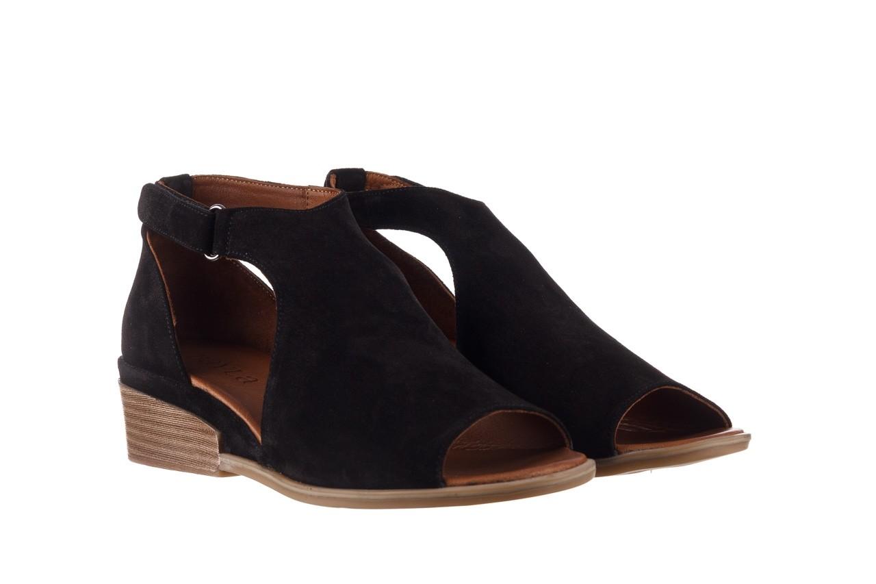 Sandały bayla-161 061 1612 black suede, czarny, skóra naturalna  - skórzane - sandały - buty damskie - kobieta 9
