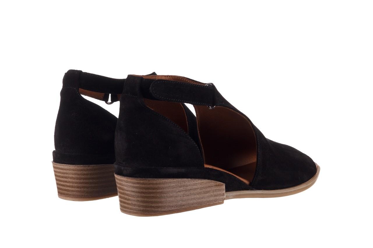 Sandały bayla-161 061 1612 black suede, czarny, skóra naturalna  - skórzane - sandały - buty damskie - kobieta 11