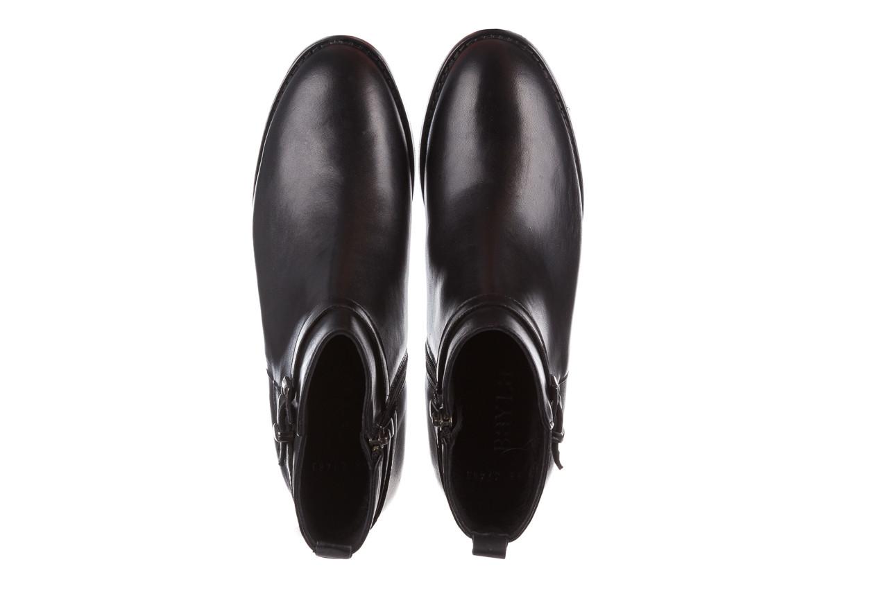Botki bayla 161 077 47463 black 161182, czarny, skóra naturalna  - skórzane - botki - buty damskie - kobieta 16