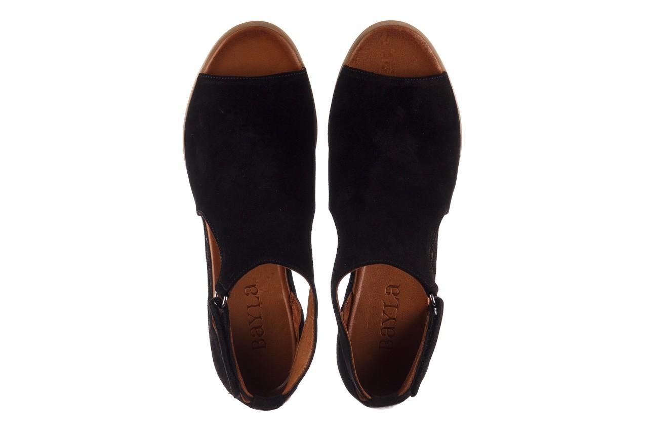 Sandały bayla-161 061 1612 black suede, czarny, skóra naturalna  - skórzane - sandały - buty damskie - kobieta 12