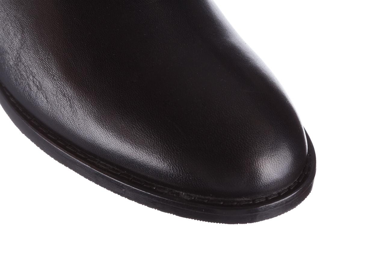 Botki bayla 161 077 47463 black 161182, czarny, skóra naturalna  - skórzane - botki - buty damskie - kobieta 17