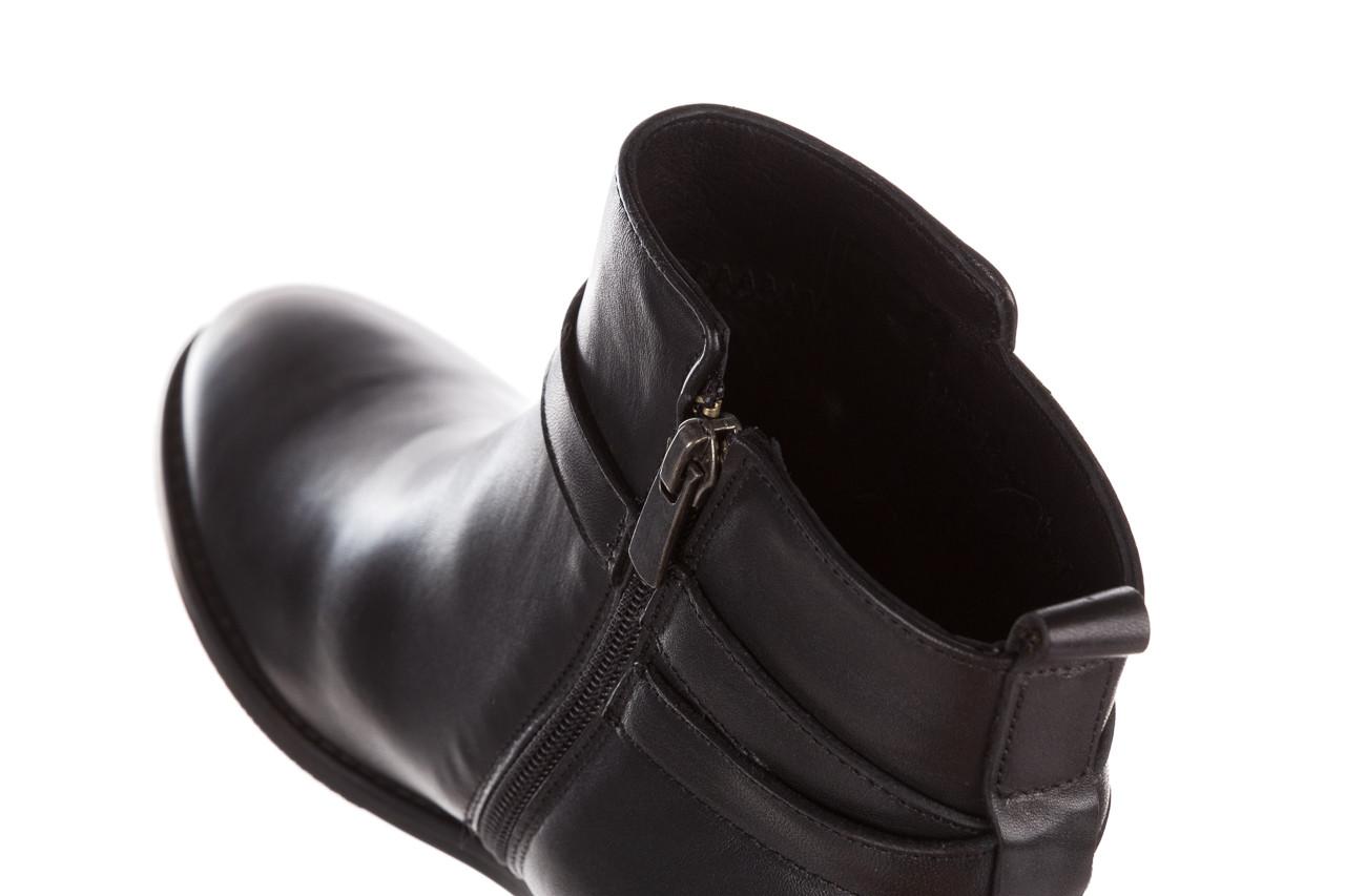 Botki bayla 161 077 47463 black 161182, czarny, skóra naturalna  - skórzane - botki - buty damskie - kobieta 18