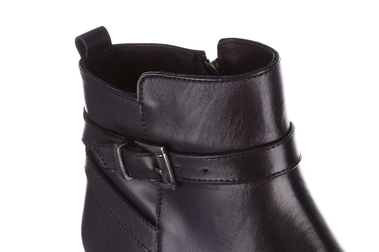 Botki bayla 161 077 47463 black 161182, czarny, skóra naturalna  - skórzane - botki - buty damskie - kobieta 21