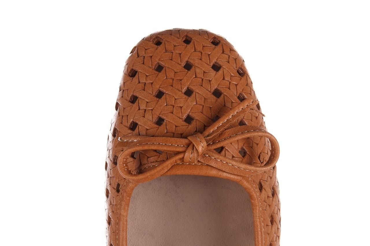 Baleriny bayla-161 093 388 4057 tan, brąz, skóra naturalna  - skórzane - baleriny - buty damskie - kobieta 15