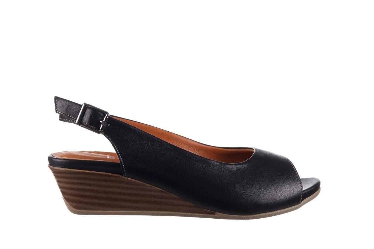 Sandały bayla-161 078 606 3 black, czarny, skóra naturalna  - na koturnie - sandały - buty damskie - kobieta 8