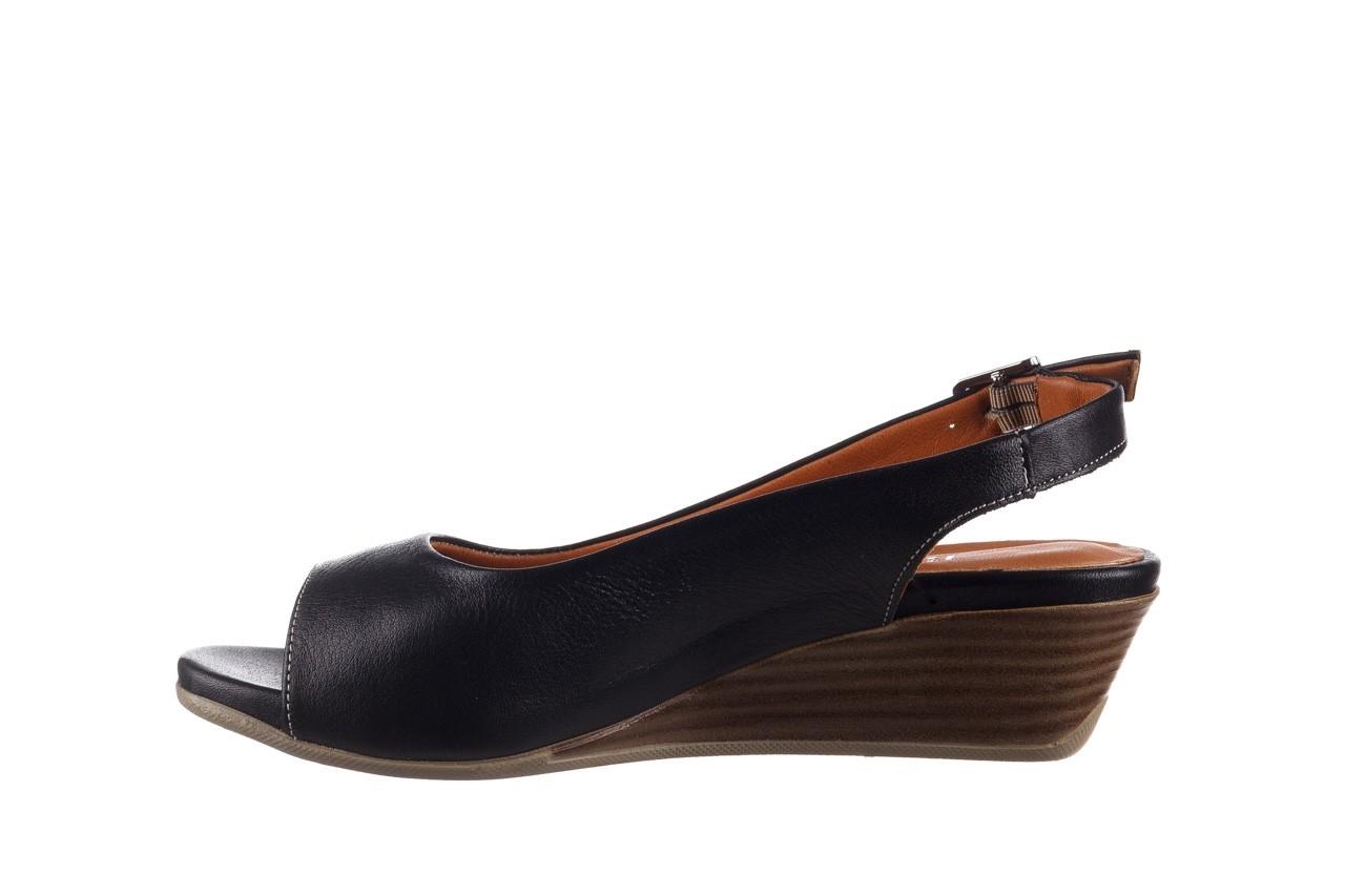 Sandały bayla-161 078 606 3 black, czarny, skóra naturalna  - na koturnie - sandały - buty damskie - kobieta 10