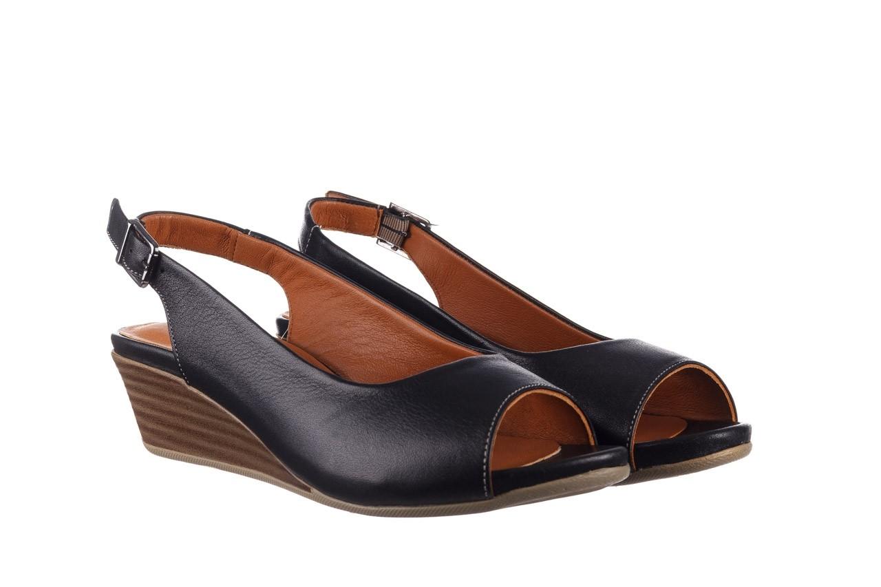 Sandały bayla-161 078 606 3 black, czarny, skóra naturalna  - na koturnie - sandały - buty damskie - kobieta 9