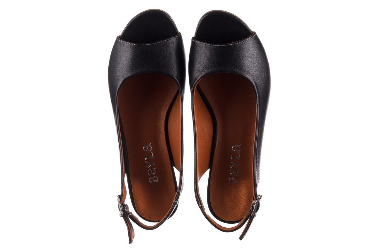 Sandały bayla-161 078 606 3 black, czarny, skóra naturalna  - na koturnie - sandały - buty damskie - kobieta 12