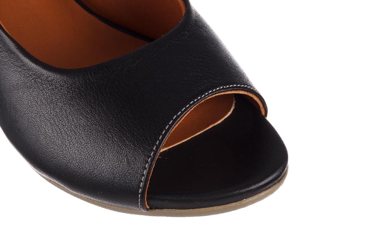 Sandały bayla-161 078 606 3 black, czarny, skóra naturalna  - na koturnie - sandały - buty damskie - kobieta 13