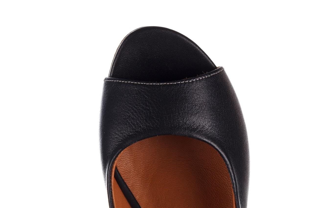 Sandały bayla-161 078 606 3 black, czarny, skóra naturalna  - na koturnie - sandały - buty damskie - kobieta 15