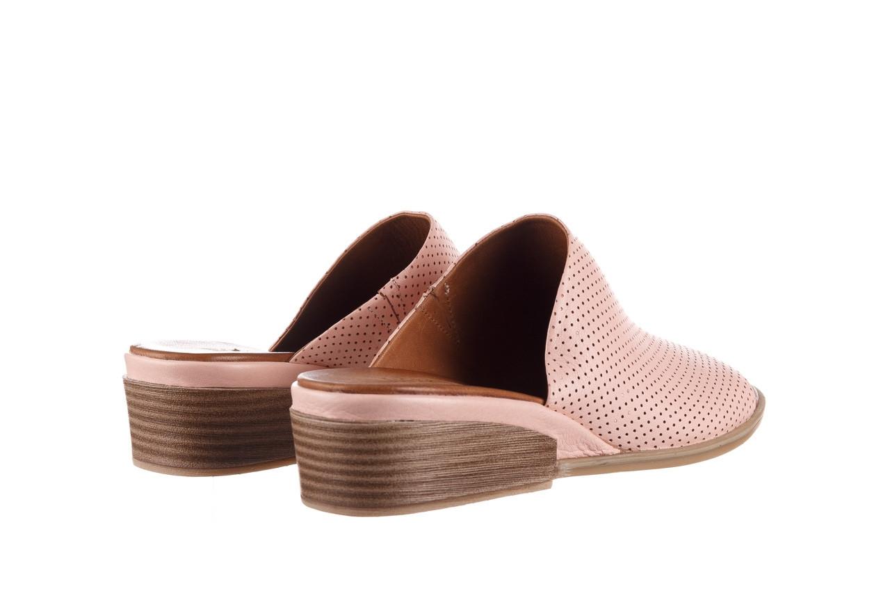 Klapki bayla-161 061 1609 cameo 21 161203, róż, skóra naturalna  - klapki - buty damskie - kobieta 11